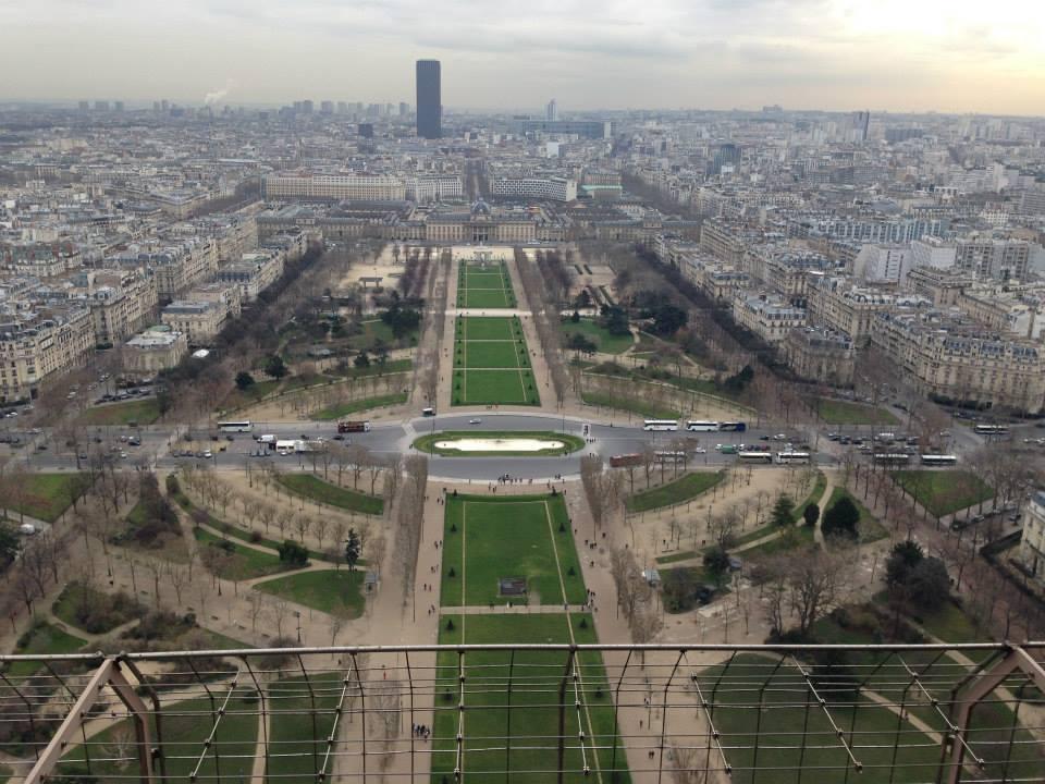 panorama depuis la tour eiffel à paris