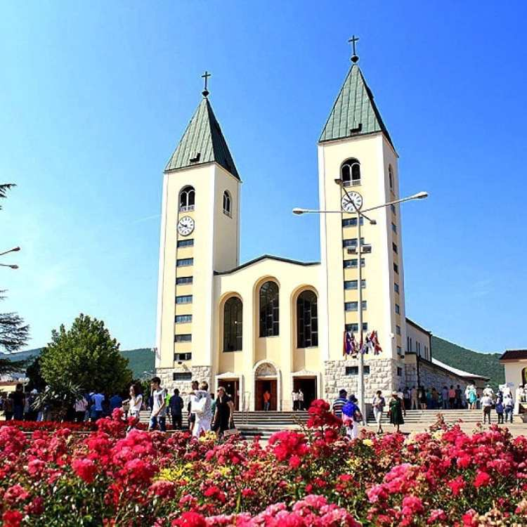 Église de Medugorje en Bosnie