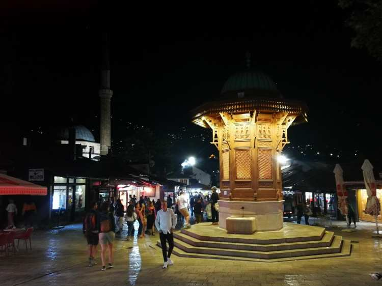 Piazza Sebilj à Sarajevo