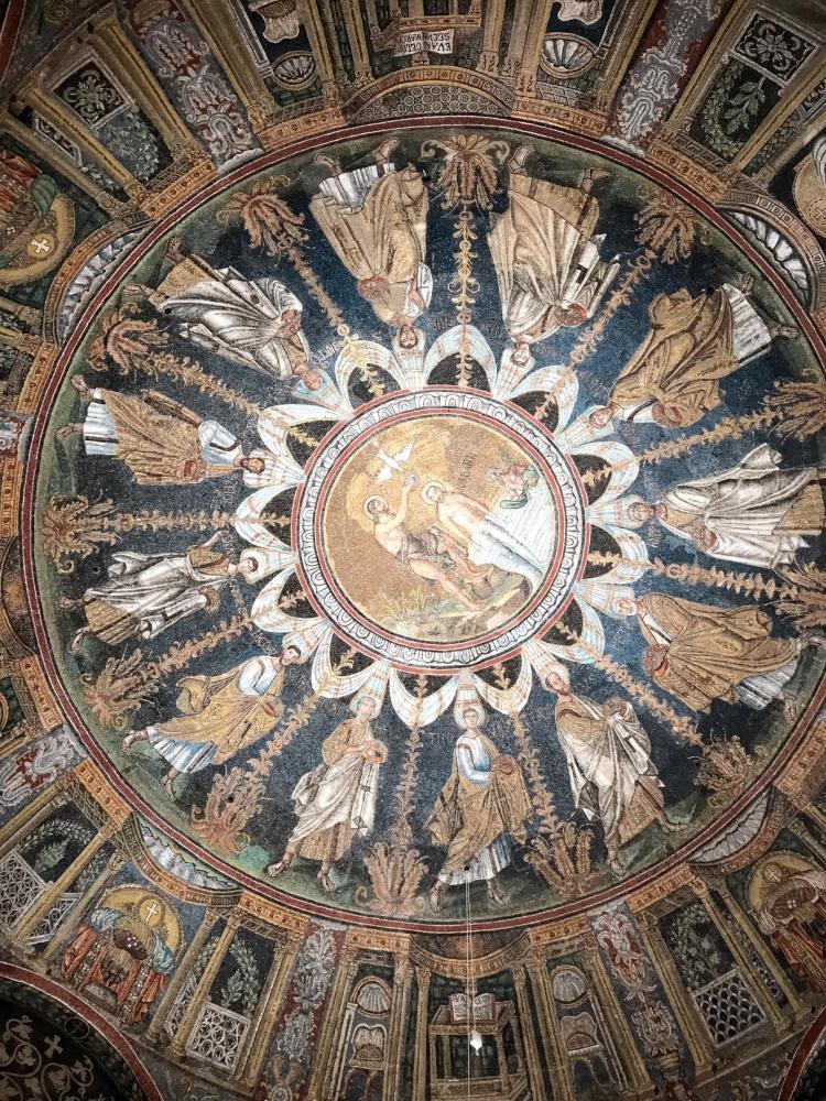 Baptistère néonien à Ravenne