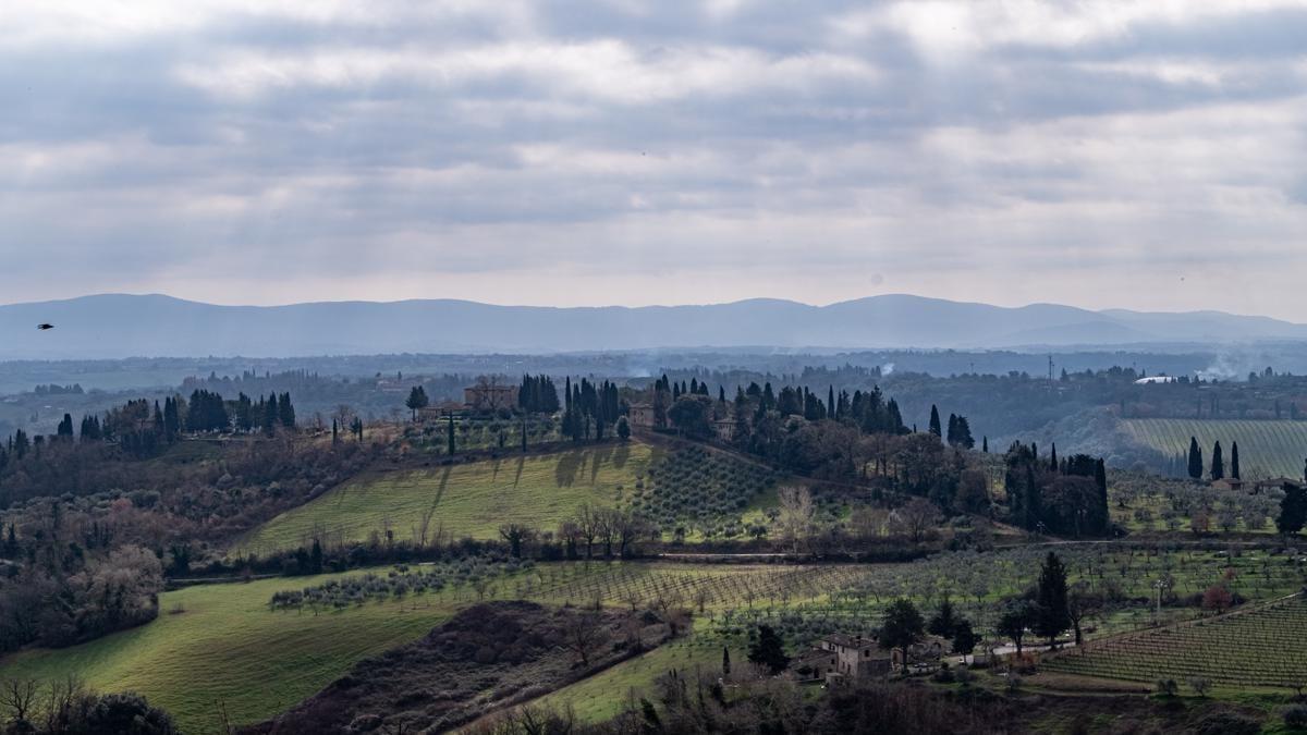 Lucques, San Gimignano et Volterra –