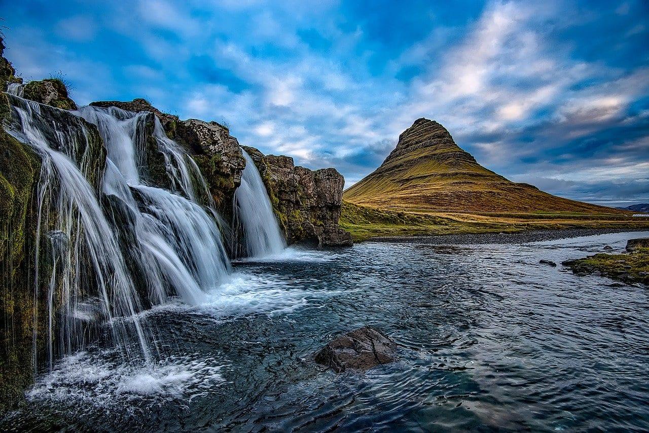 chutes d'eau d'Islande