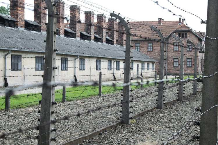 Camp de concentration d'Auschwitz-Birkenau en Pologne