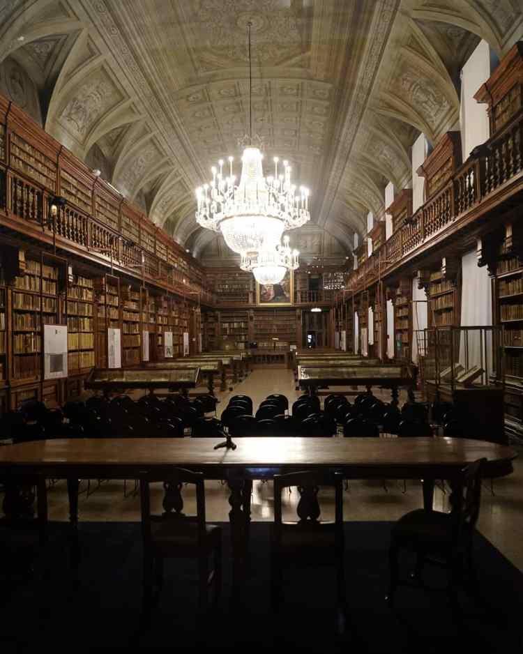 biblioteca Braidense a Milano