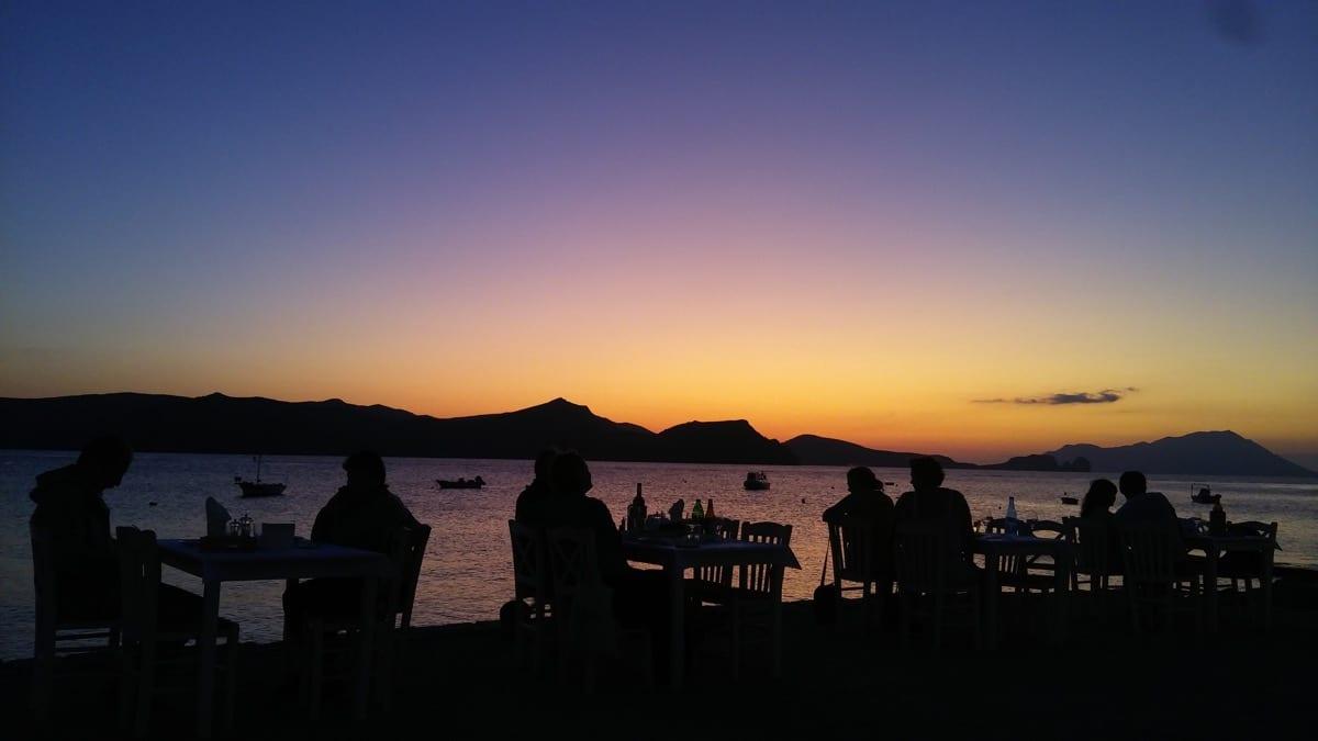 coucher de soleil depuis Klima