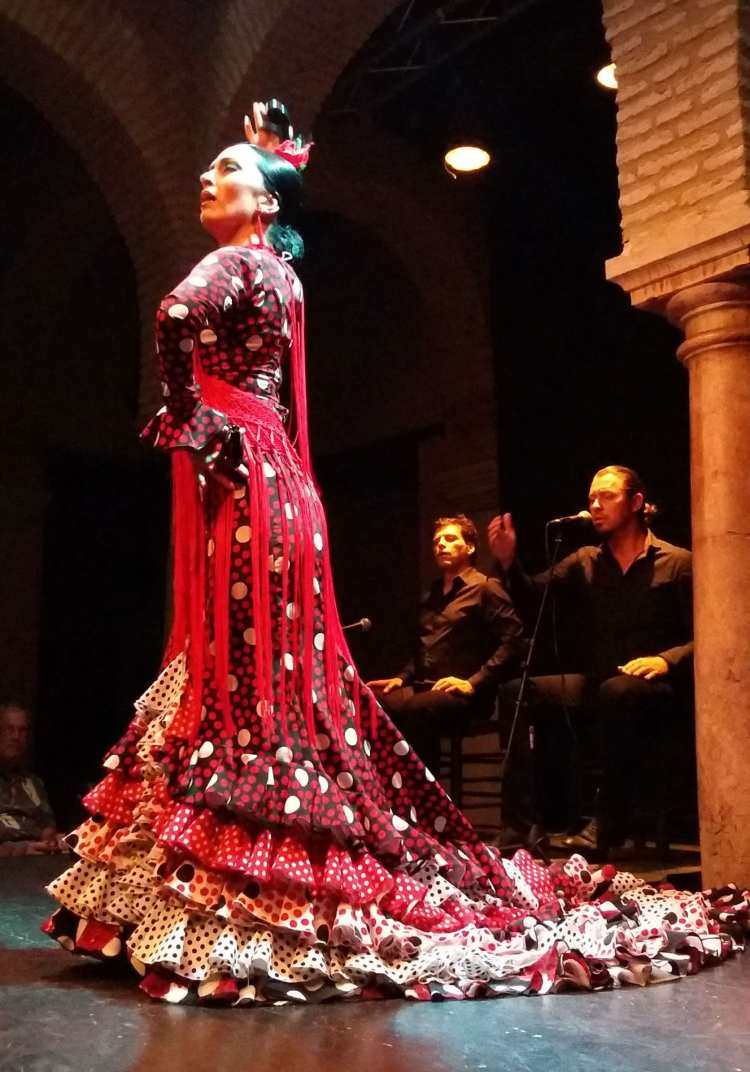 Spectacle dans le patio du Museo del baile del flamenco