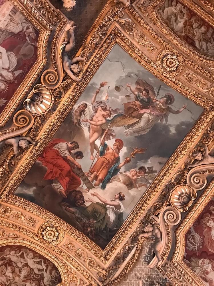 Fresque du musée du Louvre
