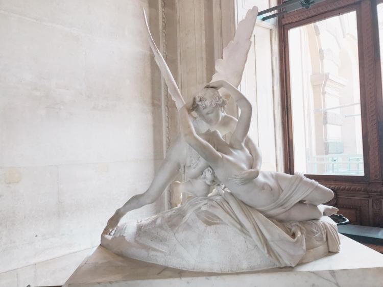 Cupidon et Psyché de Canova au Louvre